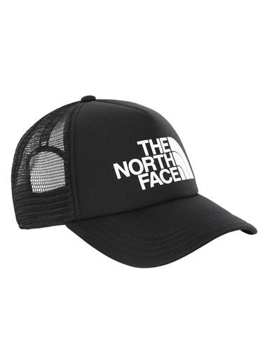 The North Face Logo Trucker Şapka Siyah/Beyaz Siyah